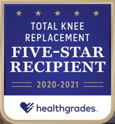 Healthgrades Total Knee Replacement 2020-2021 Badge