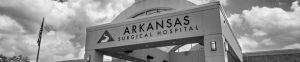Arkansas Surgical Hospital front entrance banner